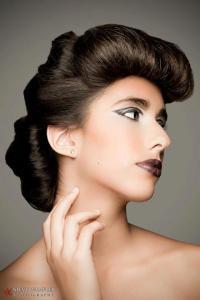 Hair Imitates Art Portfolio Challenge with Oribe Hair Care Photography Steve Wampler Make-up Jessica Timko Model Alyssa Jimenez